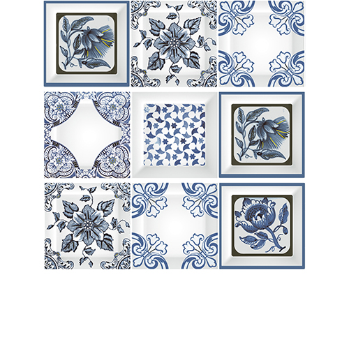 Decor Cube Mediterraneo Cobalto 10x30 (mix 3 pz)
