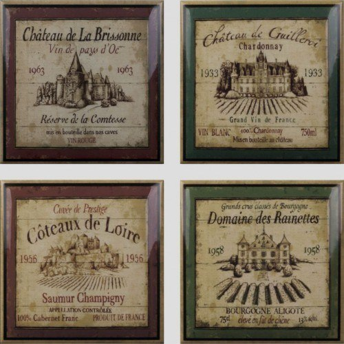 Wine Label Decos (set 4 pcs)