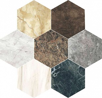 14 Ora Italiana MARMO MIX  Color Esagono 40x35