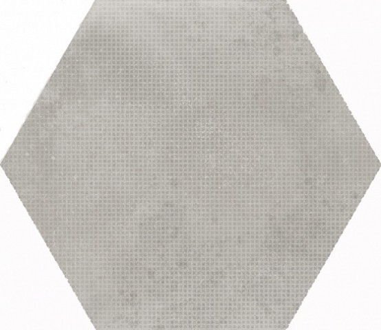 23607 URBAN HEXAGON MELANGE SILVER ANTISLIP 29,2X25,4