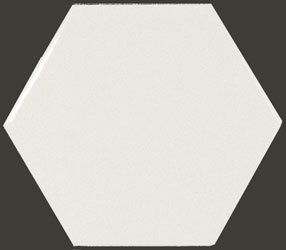 Hexagon White  10,7*12,4