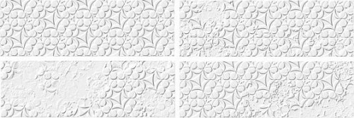 21837 Country Brocade Blanco Mate 6,5X20