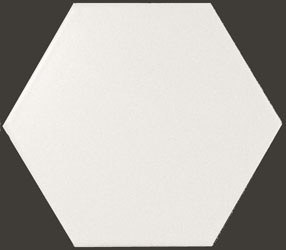 Hexagon White Matt  10,7*12,4