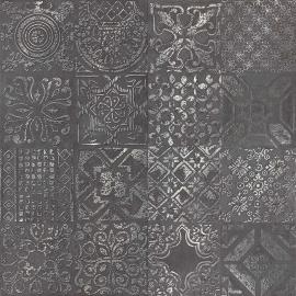 DEC.PATCHWORK BLACK LAPP.60X60