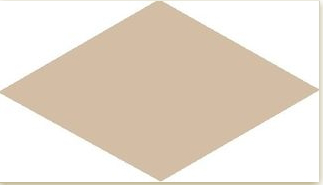 Rhombus Cream Smooth 14x24