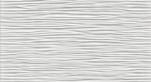 3D Wave White Matt 9D5W 30,5x56