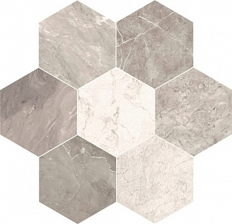 MARMO MIX Grigio Light Esagono 40x35