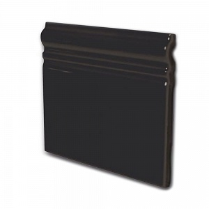 Керамическая плитка Equipe In Metro Skirting Negro Brillo 15x15