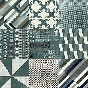MUTINA AZULEJ COMBINATION NERO 20x20х1