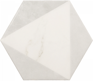 23102 CARRARA Hexagon Peak 17,5x20 см