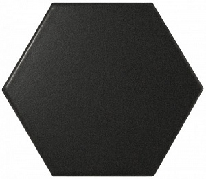 Hexagon Black Matt. 10.7×12.4