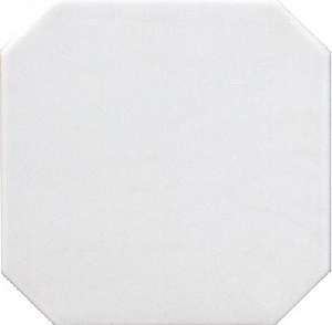 Octagon Blanco Mate 20*20